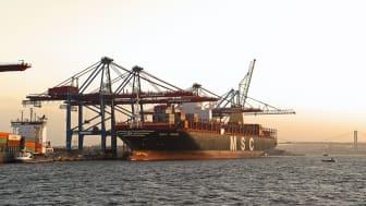 I Göteborgs hamn finns kapacitet att avhjälpa förseningar i andra europeiska hamnar till följd av situationen i Suezkanalen. Bild: Göteborgs Hamn AB.
