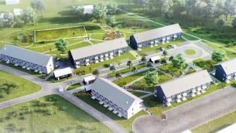 Riksbyggen byggstartar 68 hyresrätter i Stora Höga, Stenungsund