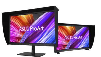 ProArt Display OLED PA32DC is the world's first OLED monitor with a built-in calibrator for automatic calibration