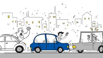 Bilförares beteende skapar dominoeffekt på vägen