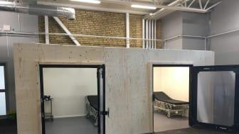 Ombyggd ambulanshall för psykiatrin