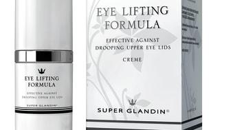 Nu lanserar Baltex den första cremen som även lyfter övre ögonlocken, Super Glandin Eye Lifting Formula.