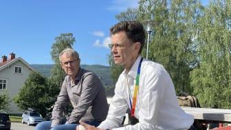 Telenor Norge fortelle nå en annerledes 5G-historie, en historie om en ny måte å bygge hardførhet i nettet på. Her er administrerende direktør i Telenor Norge, Petter-Børre Furberg, ved Telenors teknologisenter på Fåberg. Foto: Anders Krokan