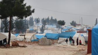 Läger i Jebel Harem i nordvästra Syrien. Foto Läkare Utan Gränser.