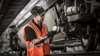Fitting vibration sensors at Hornsey depot, north London 2