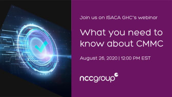 WEBINAR: What you need to know about CMMC   Hosted by ISACA GHC