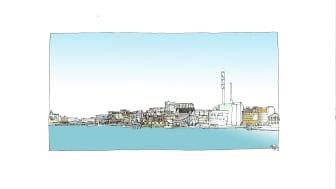 Visionbild Skeppsbron från älven