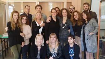 Deltagare på ERASMUS-projektmötet i Aten.