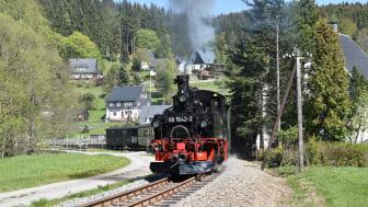 Mit Dampf in den Frühling (Foto: IG Preßnitztalbahn e.V. / Thomas Poth)