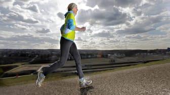 Frau joggt 1