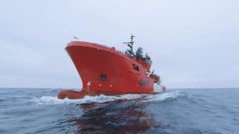 'Esvagt Capri' er et af de fire skibe, der er tilknyttet en kontrakt med EnQuest i UK sektor.