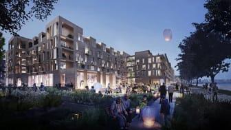 Das neue Wohn- und Seniorenzentrum schafft Raum für eine vielfältige Mehrgenerationen-Gemeinschaft (Copyright: C. F. Møller Architects and Tredje Natur)