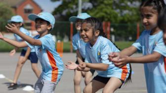 All Stars Cricket kids practice catching - credit Jonathan Cherry