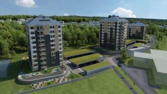 Försäljningen av bostadsrätterna i HSB brf Stinsen har gått bra och byggstarten blir redan i januari 2021.