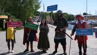 Attraktionerna vid invigning av Djurgårdsstrand2021-06-03