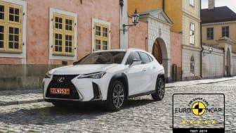 Lexus UX EuroNCAP 5 stars 03 4x3