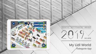 """Annual Multimedia Award 2019 in Silber für die von Appsfactory realisierte Game-App """"My Lidl World"""""""