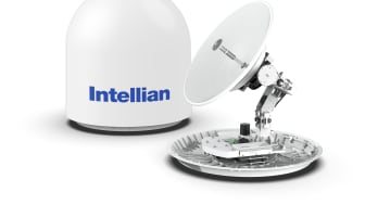 Intellian's v85NX (pictured) and v100NX antennas have been endorsed for use with the IntelsatOne Flex service
