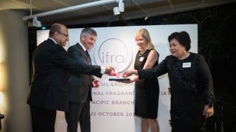 (l-r) Michael Carlos (IFRA Chairman), David Ellison (IFRA APAC Chairman), Martina Bianchini (IFRA President), Rohaya Mamat (IFRA APAC Director)