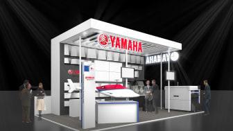 3D mockup of the Yamaha Motor booth