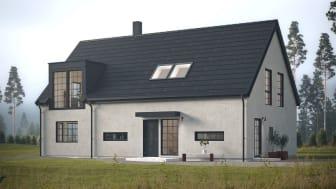 Nya husmodellen Skiffer från Myresjöhus.
