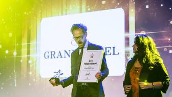 Oscar Petersson på Grand Hotel i i Lund - en av  vinnarna av Svenska Mötespriset 2018.