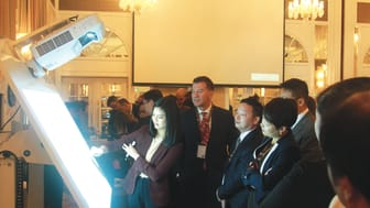 The ultra short-throw finger touch-enabled interactive projectors are very intuitive to use and warmly received by the delegates.