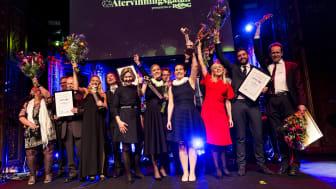 Glada vinnare från Återvinningsgalan 2018