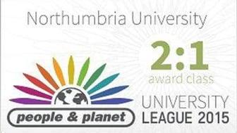 Northumbria University awarded 2:1 in environment and ethics university rankings