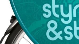 Del av den nya Styr & Ställ-cykeln som visas på pressträffen. Ta gärna en provtur!