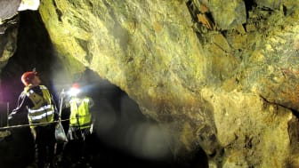 Inspection of rock stability in the raw water tunnel for Nedre Romerike Waterworks IKS, outside Oslo (Photo: NGI - NRV IKS).
