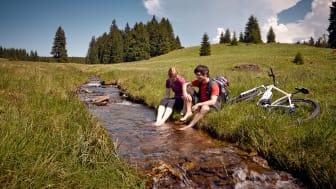 Sommerfrische bei einer Radtour durchs Erzgebirge