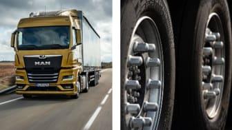 Nya MAN TGX med Bridgestone Ecopia H002 – finns även tillgängliga som originalutrustning. ©MAN Truck & Bus