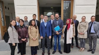 The delegation's visit to the initial reception center Traiskirchen (Betreuungsstelle Ost Traiskirchen).