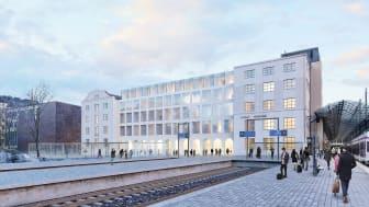 Helsingin rautatieaseman uusi Scandic-hotelli