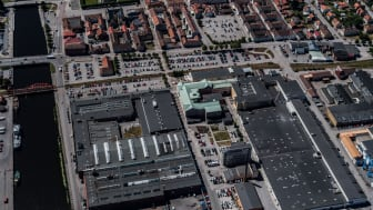 Flygbild över det aktuella området.