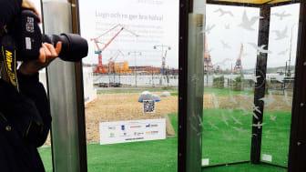 En väder- och bullerskyddad mötesplats snart på plats