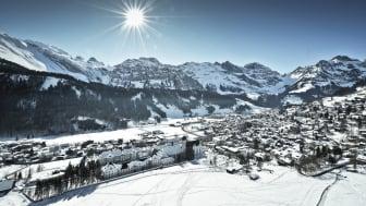 Blick auf Engelberg im Winter © Engelberg-Titlis, Fotograf Christian Perret