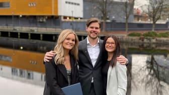 Ida Röjland, Fredrik Lindberg och Carina Röjland-Lindberg startar nu HusmanHagberg Borås.