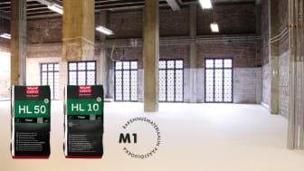 Casco Floor Expert HL 10 ja HL 50 ovat M1-hyväksyttyjä lattiatasoitteita.