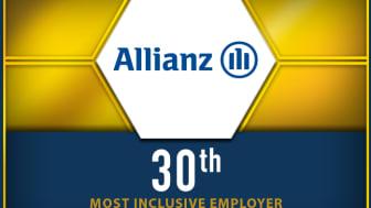 Inclusive Top50 logo and Allianz ranking