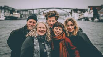 Haugesund Teaters skuespillere i 2020: Henrik Bjelland, Lars August Jørgensen, Ane Skumsvoll, Marina Popovic og Rikke W.Lie