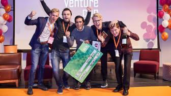 """Med motiveringen """"möjligheten till stor klimatpåverkan"""" vann Eneryield pris för """"Årets Impact Maker"""" under Venture Cup. Eneryield rustar Sverige för framtiden, på ett stabilt och effektivt sätt."""