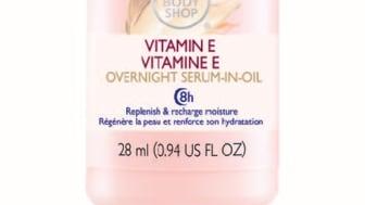 Åtta timmars skönhetssömn med Vitamin E Overnight Serum-in-Oil