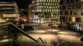 Schweigaards gate 16 er sertifisert med BREEAM In-Use, som er et miljøsertifiseringssystem for eksisterende bygg. Foto: Knut Neerland