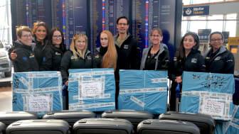Optiker utan gränser på Arlanda inför hjälpresan till Bolivia. Foto: Synoptik.