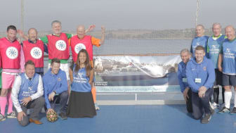 Fred. Olsen Cruise Lines and the Suffolk Football Association host a successful game of Walking Football at sea – for the first time ever!
