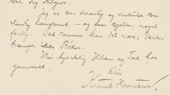 Gustav Vigelands brev er digitalisert av Nasjonalbiblioteket (Foto: Nasjonalbiblioteket)