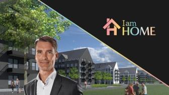 Foto: Martin Palm, Illustration: E/S-A arkitekter.  Illustrationen är en prospektbild av I am Homes projekt om 252 lägenheter i Västerås.