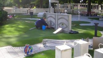 Premiär för malmöikoner på golfbana